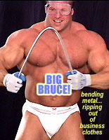 BIG BRUCE  Bar Bending & Rips Out of Shirt