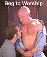 TOM LORD and Muscle Worshipper DILLON:  Beg To Worship Me!  DVD