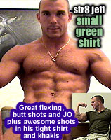 str8 jeff  SMALL GREEN SHIRT