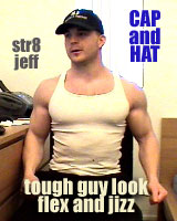 str8 Jeff  CAP AND HAT