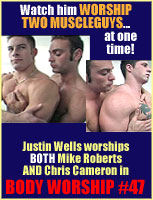 BODY WORSHIP  #47, Two Studs Worshipped by one hottie!!